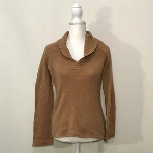 J Crew 100% Cashmere Brown Tan Sweater Medium